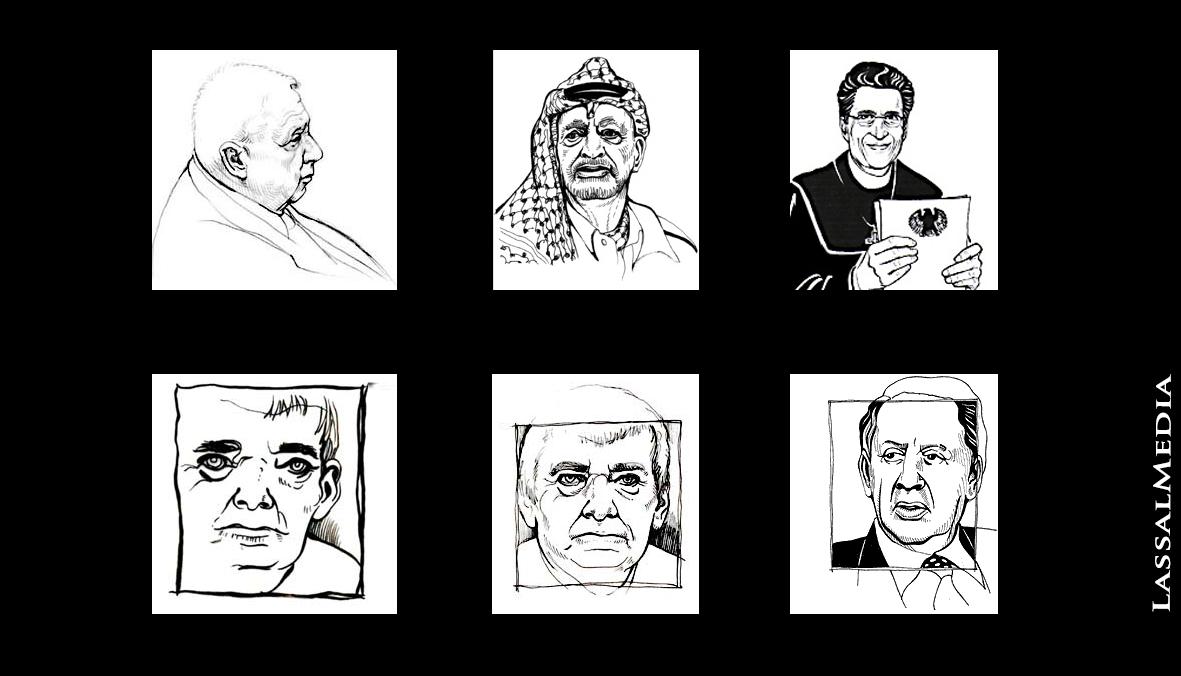 LassalMedia, Portrait Illustrations for the Frankfurter Allgemeine Zeitung (FAZ)