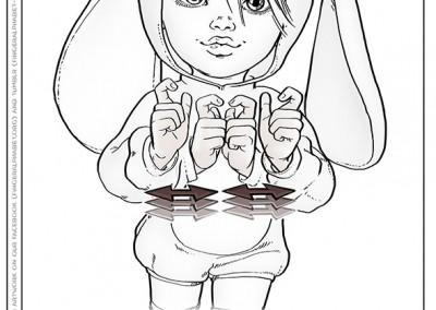 Lassal for Fingeralphabet.org - Coloring Picture - Sign Language - Paint It #04