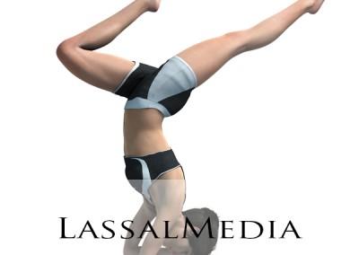 LassalMedia photorealistic Yoga Position Illustrations
