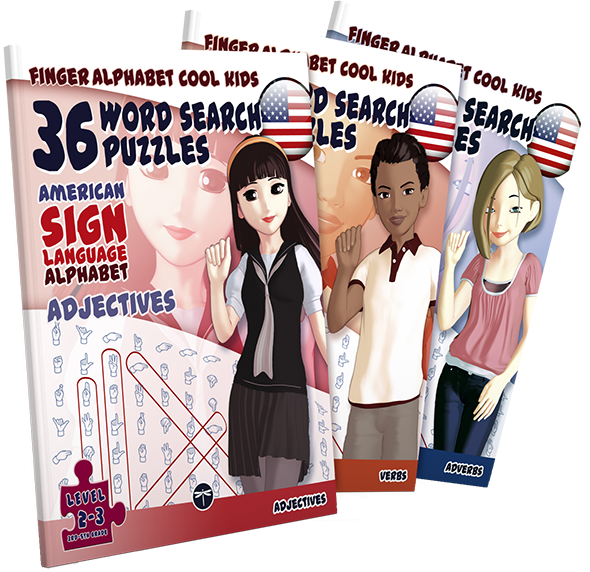 ASL-Word Search Puzzles for Cool Kids
