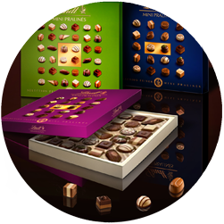 Key Visuals for Lindt Chocolate / Packshots