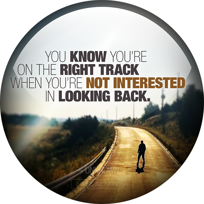 """Lassal: """"You know you are on the right track when you are not interested in looking back."""""""