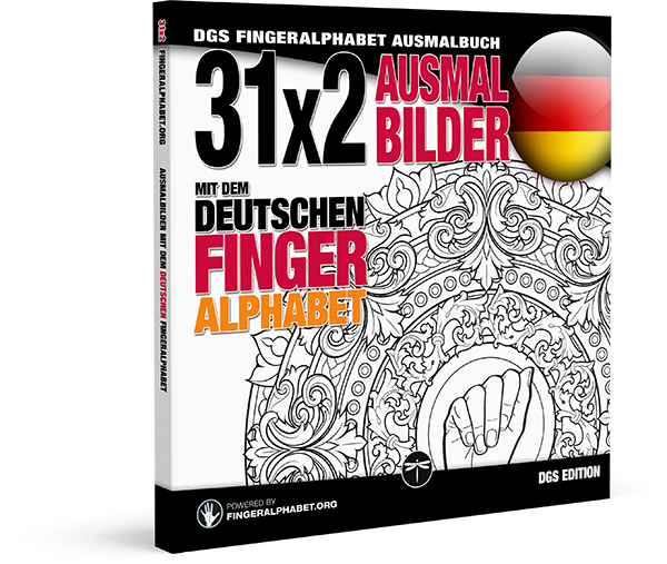 Fingeralphabet.org: Ausmalbuch mit dem deutschen Fingeralphabet
