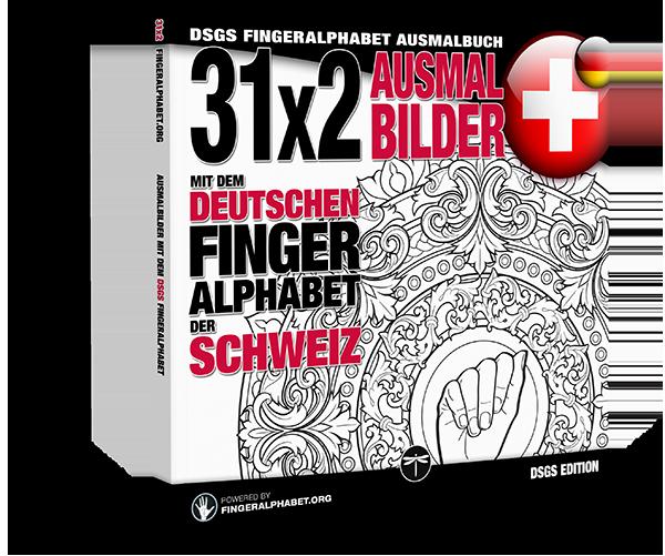 Fingeralphabet.org: Ausmalbuch mit dem deutschen Fingeralphabet der Schweiz