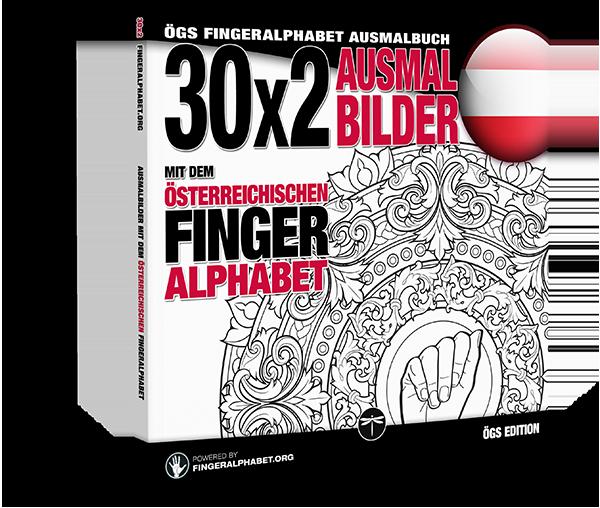 Fingeralphabet.org: Ausmalbuch mit dem österreichischen Fingeralphabet